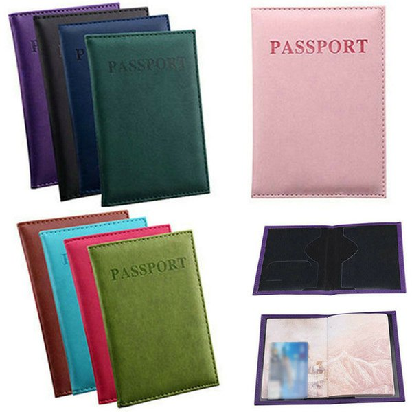 Passport Wallets Card Holders holder Cover Case Protector PU Leather Travel purse wallet bag Passport ID Cover Case CNY1224