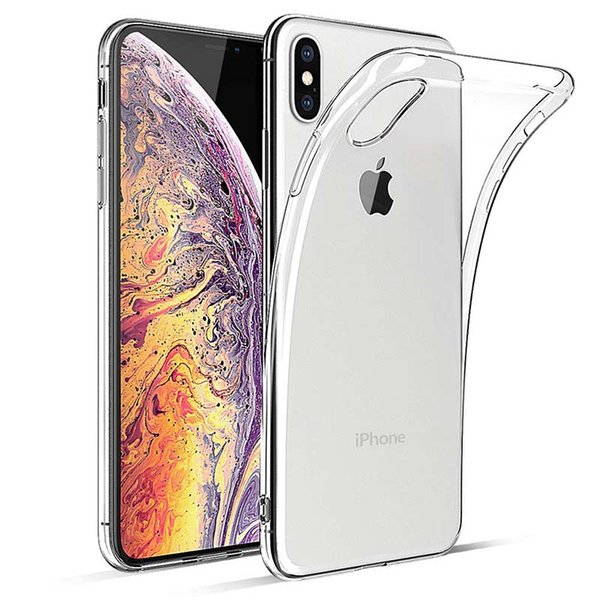 iPhone Xs Max Case, Thin Ultra-Slim Fit Crystal Clear Transparent Bumper Flexible TPU Phone Case Cover Compatible for iPhone Xs Max