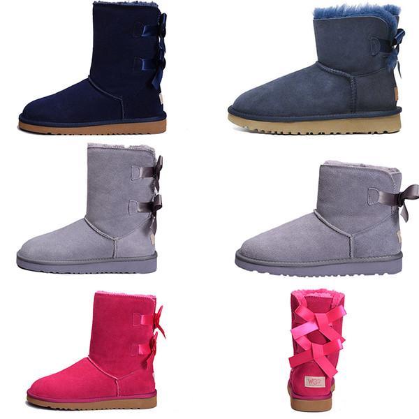 Stiefel braune Knöchel Frau Schnee Stiefel für Herren Leder Schafe Australien klassische warme Winter Männer Schuhe Luxus Designer Bailey Stiefel Freies Verschiffen