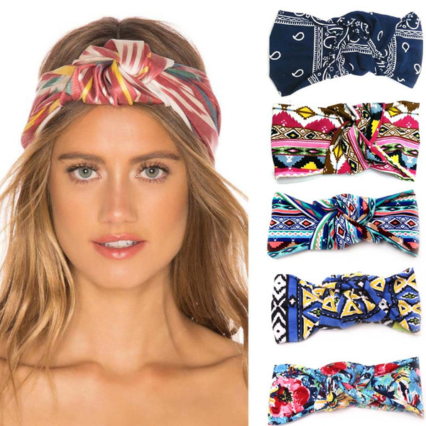 Women Print Knot Headband Girls Yoga Sport Head Wrap Lady Hair Band Hair Accessories
