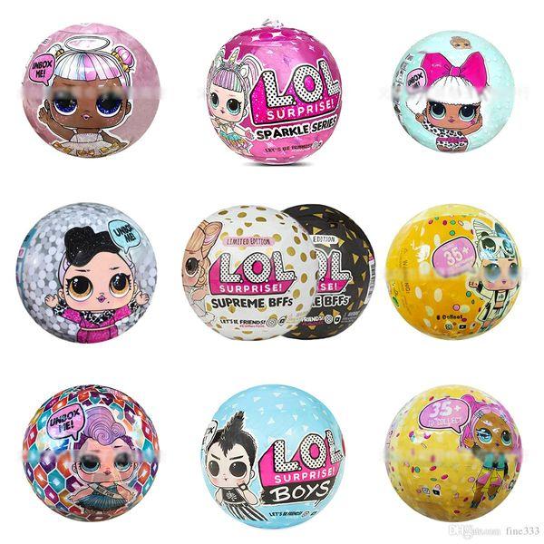 Boneca Confetti PoP, Irmãzinha, Sereia de aquário, BFFs Branco / Preto, PET amarelo, Anjo rosa, Unicórnio LIL, Boneca de prata Best Kids Toys Gifts