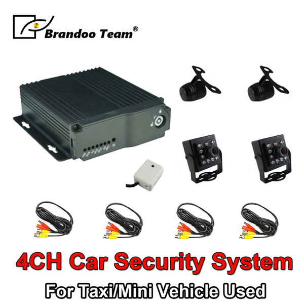 4CH SD Type Mobile Dvr Kits Mobile Car DVR 4 Channel Analog MDVR Kit Including 4 Cameras For Taxi Mini Vehicle Used