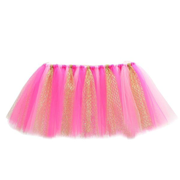 Tulle Table Skirt Wedding Decorative High Chair Decor Baby Shower Decoration Birthday Banquet for Boys Girls Party Birthday Gift