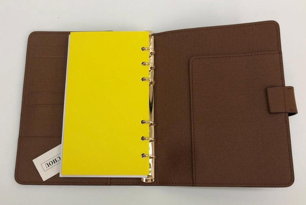 top popular 2019--2022 new men's fashion classic agenda holder high quality notebook slim wallet purse 2021