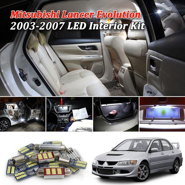 9pcs Canbus White Car LED Light Bulbs Interior Package Kit For Mitsubishi Lancer Evoluti 2003 2004 2005 2006 2007 Interior Light