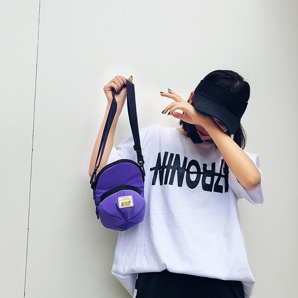 Fashion Women Hat Shape Bags Solid Messenger Bag Single Shoulder Bag Women Polyester Handbag High Quality Zipper Purse