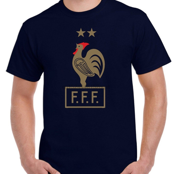 Fransa Futbolcusu 2 Yıldız Tişört Retro Fransız Soccers 1998 2018 Erkekler Tişörtlü Moda O-Yaka T Shirt Homme oluştur Tişörtlü