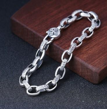 Bracelet Men Mens Jewellery Chain Bracelet Silver 925 C19021501