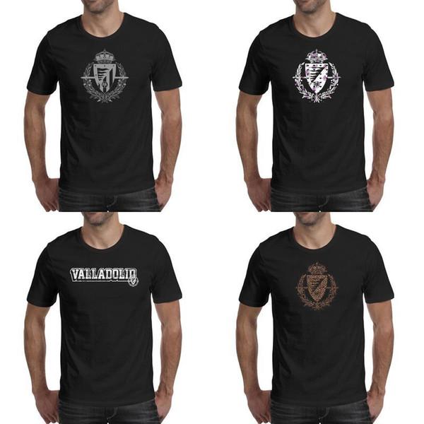 Real Valladolid SAD Pucela Albivioletas Leopard negro para hombre camisetas diseño gráfico superhéroe campeón clásico t etiqueta de mármol