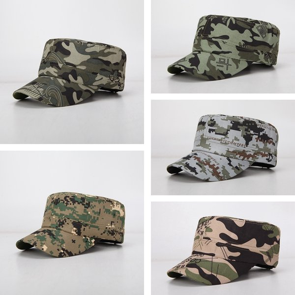 best selling Camouflage Sport Baseball Caps Sweat Uptake Breathable Men Women Hat Soft Flat Top Cap Outdoor Camping Visor Sun Hat TTA845