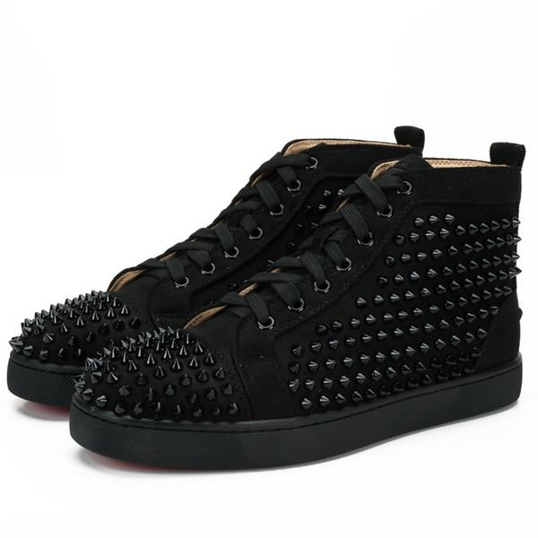 2019 nuevo diseñador Studded Spikes Flats zapatos para hombres amantes de la fiesta de cuero genuino zapatillas 35-46 venta al por mayor envío gratuito d2