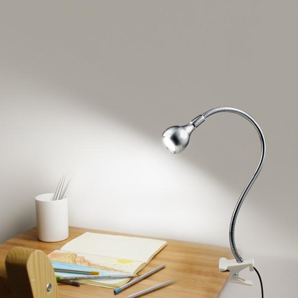 Clip Light Table Lamp Usb Power Bedside Lamps For Bedroom Study Room Decor Flexible Led Book Light For Reading Work Desk Light