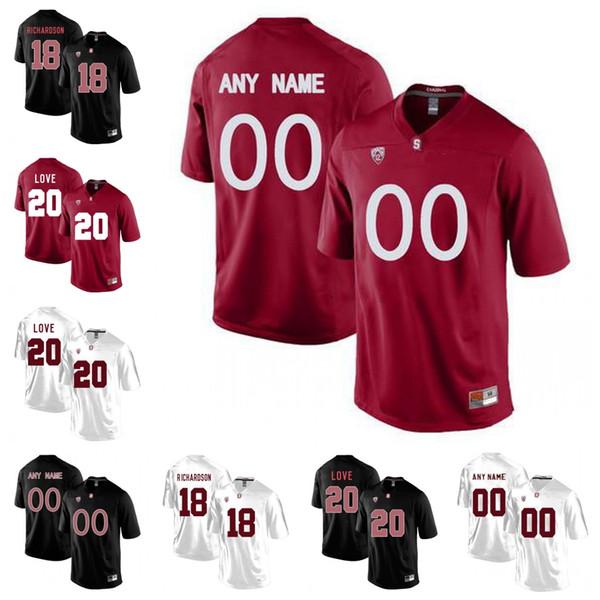 Custom NCAA Stanford Cardinal 5 McCaffrey #3 KJ Costello 19 JJ Arcega-Whiteside 84 Colby Parkinson 51 Jovan Swann College Football Jerseys