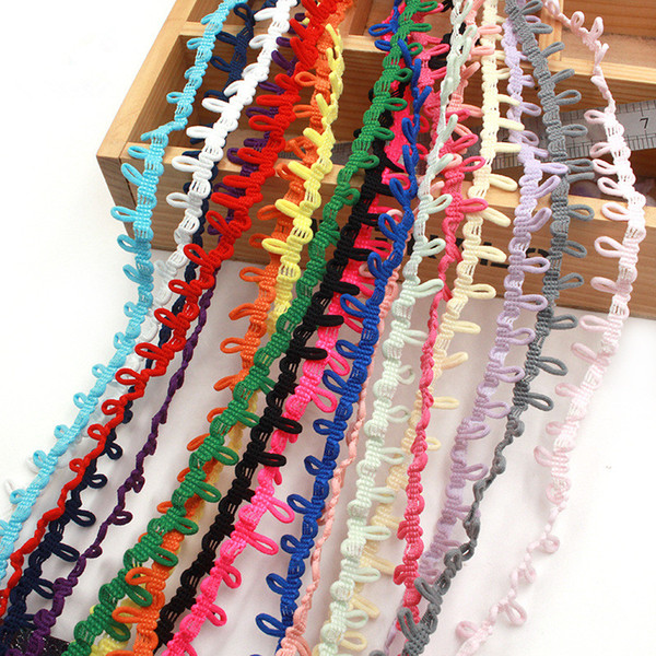 best selling 1.5cm Wide Colorful Elastic Loop Trim Tiny Round lace ribbon for DIY Handmade Craft,garment decoration