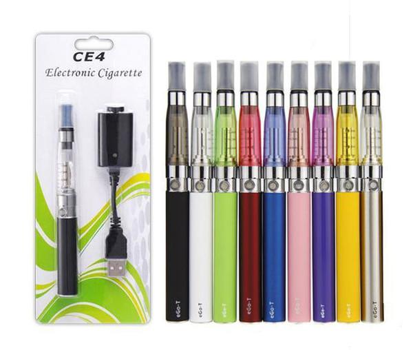 eGo CE4 Starter Kit Electronic cigarette e cig kit 650mah 900mah 1100mah Ce4 Tank EGO-T battery blister Clearomizer Vape E-cigarette kit