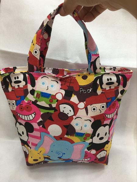 IVYYE 1 STÜCKE Cheshire cat Mode Tragbare Leinwand Mittagessen Taschen Cartoon Picknicktasche Box Tote Lagerung Für Frauen Mädchen Kinder