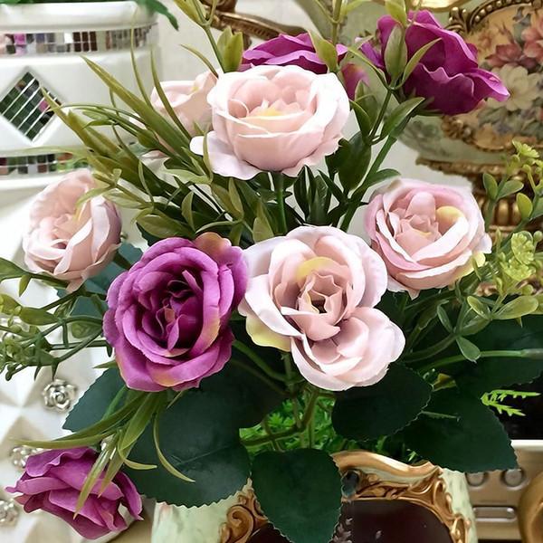 Acheter 1 Le Bouquet De Mariée Mariée Pivoine Hortensia Maison Fleur Artificielle Saint Valentin Anniversaire De La Fête De Fiançailles Floral De