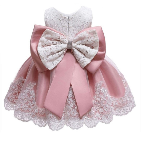 2019 Kids Summer Princess Party Dress For Girls Infant Lace Petal Children Bridesmaid Elegant Dress For Girl Baby Girls Clothes MX190724