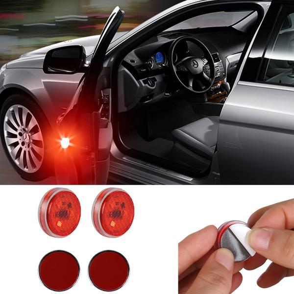 2 Stücke Universal Allgemeine Autotür LED Öffnung Warnlampe sicher Blitzlicht Rot Kit Wireless Anti-collid Signallicht