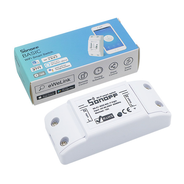 Originale Sonoff 10A Wifi Smart Switch Remote Wireless Timer Light Switch Intelligente Universale DIY Smart Home Automation Module