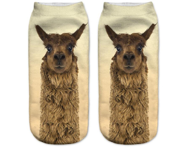 Wholesale free shipping 3D digital printing socks female models shallow mouth boat socks adult socks animal series printing shor