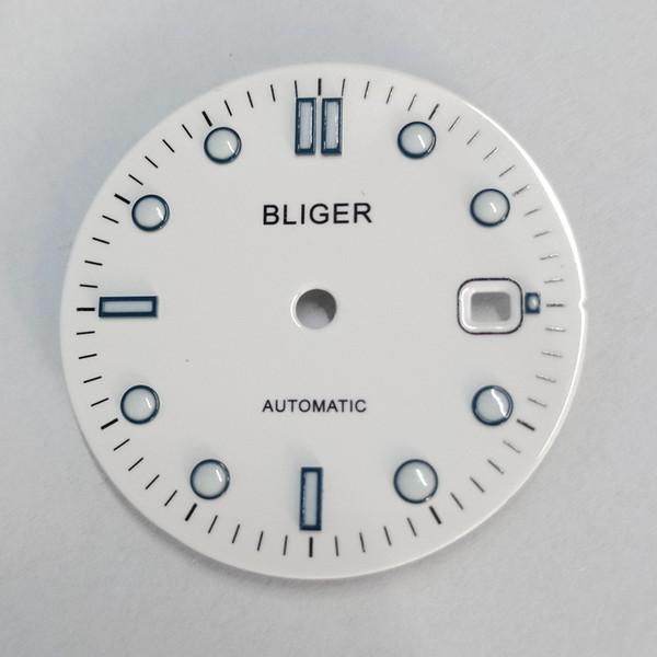 31mm with logo white watch Dial eta 2836/2824 2813/3804 Miyota 8215 821A movement P925