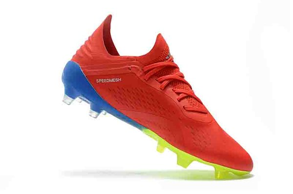 2019 2019 Leather Soccer Cleats X 18.1 FG 39 45 Soccer Shoes Mens Football Boots X 18.1 Original Scarpe Da Calcio Blackout New Arrival From