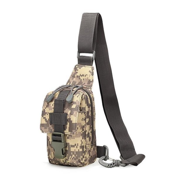 Single Shoulder Mini Chest Bag For Men Outdoor Sport Riding Crossbody Chest Hanging Mobile Phone Hand Bags Camouflage Saddle Bag