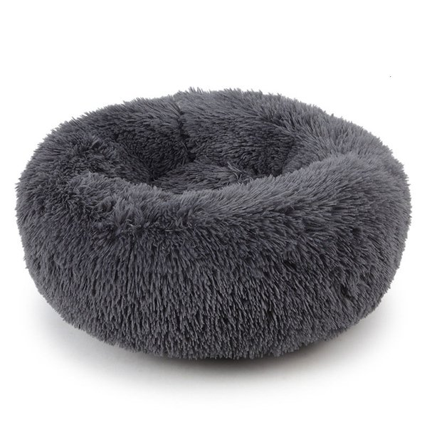 top popular Pet Beds & Mats Winter Warm Plush Round Dog Bed Kennel Pad Washable Breathable Cat Puppy Lounger Sofa for Small Dogs Pet Product Y191030 2020