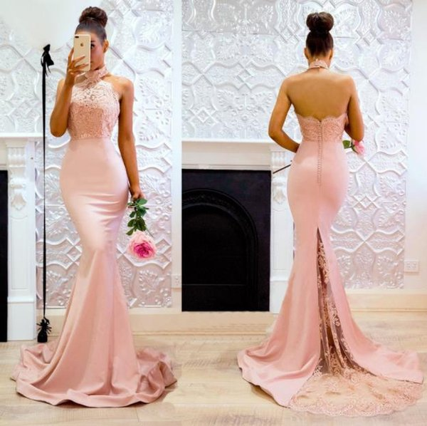 Europe and the United States women's new evening dress explosion models sexy sleeveless hanging neck dress bag hip dress