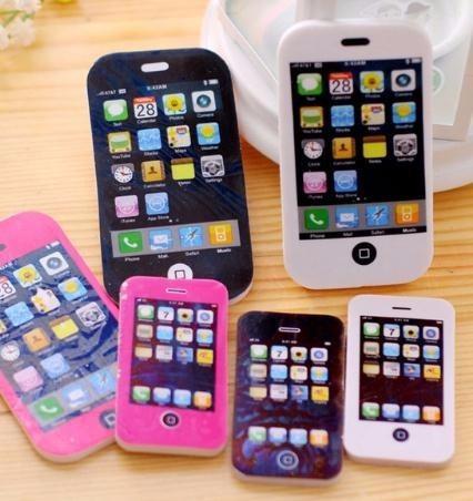 Small Size 2PCS fancy iphone shape eraser / phone eraser / gift eraser/children gift/sweet stationery Office & School Supplies