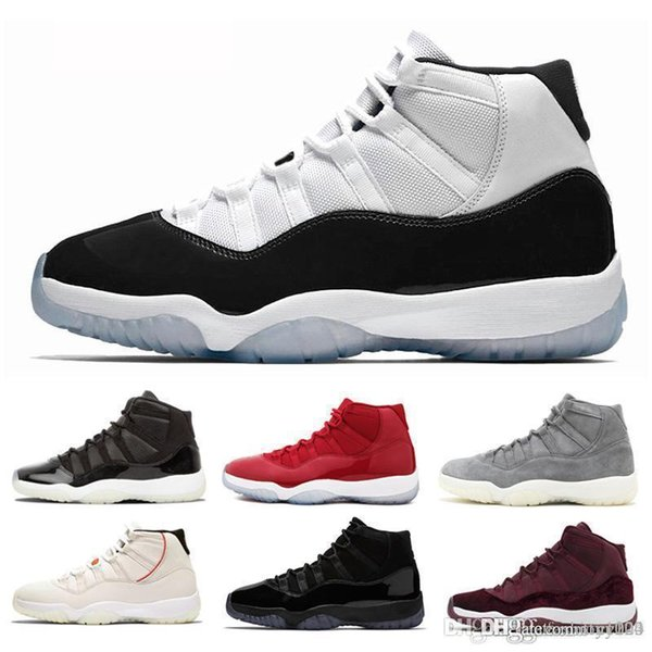 best selling With Box Concord High 45 11 XI 11s Cap and Gown PRM Heiress Gym Red Chicago Platinum Tint Space Jams Men Basketball Shoes sports Sneakers