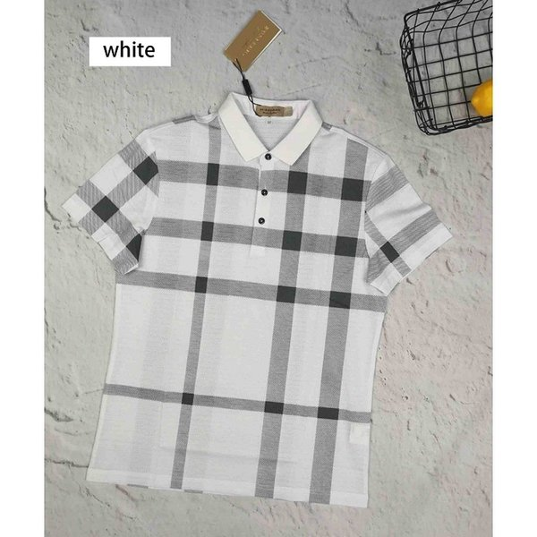 Mens Classic Polos 2019 New Designer Mens Polo Shirts with Plaid Printed Mens Fashion High Quality Short Sleeve Tops Polos Men Brnad Clothes