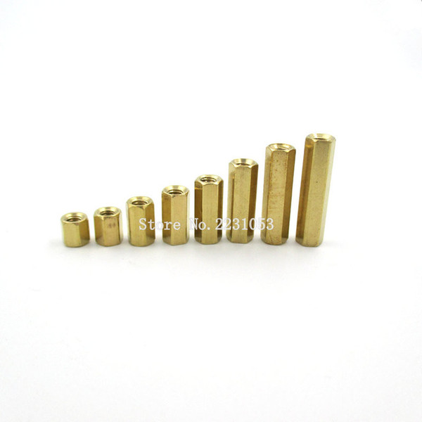 top popular Cheap Screws 20PCS LOT 3 Hex Screw M3 Female Hexagonal Brass PCB Standoffs Spacers Screw M3*5 6 8 10 12 15  18 20mm Screws 2021