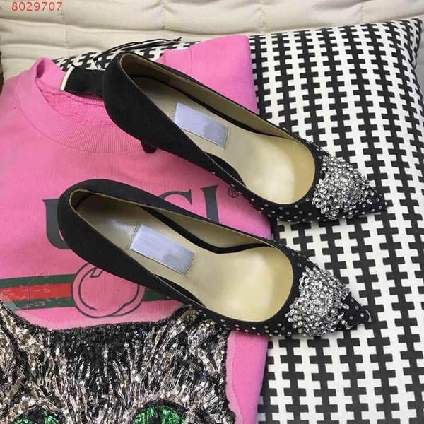 Sapatinho de cristal das mulheres, sapatos de baile vestido de moda, mulheres sapatos de salto alto único sapatos, com uma gama completa de embalagens