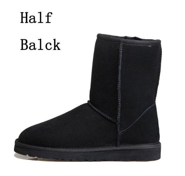 4 black half boots
