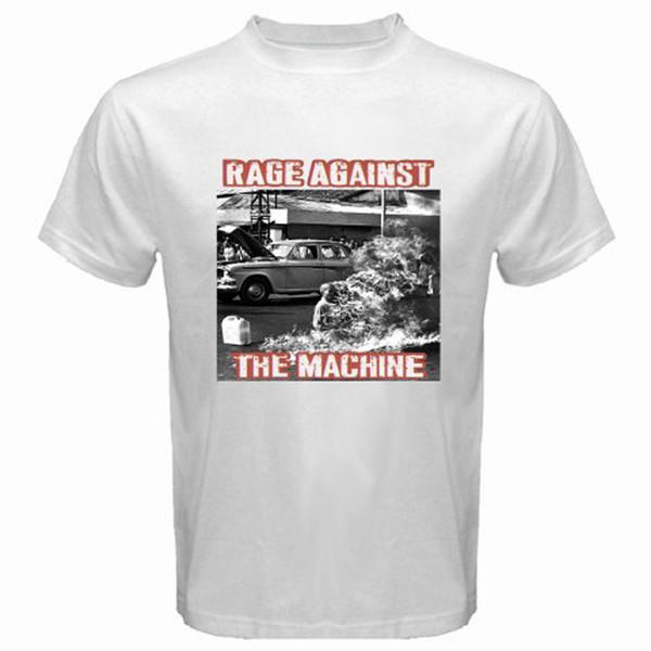 New RAGE AGAINST THE MACHINE RATM '92 Rock T-Shirt colour jersey Print t shirt jersey Print t-shirt Brand shirts jeans Print