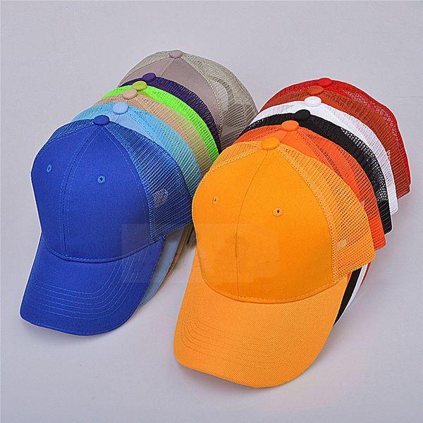 Mode Unisex Mesh Baseball Mütze Sommer Outdoor Atmungsaktive Sonnenhut Kausalen Angeln Ente Kappe Reine Farben Sport Cap Party Hüte