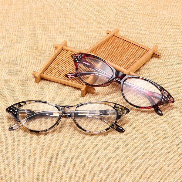 Half Frame Reading Glasses Women cat eye Optical Mirror Glasses Anti-Fatigue Hyperopia Women HD Resin Lens Presbyopic LJJV406