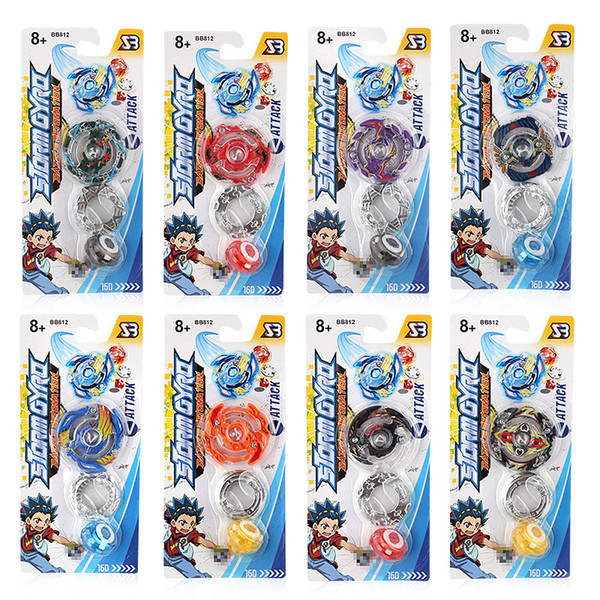 DHL Wholesale Alloy Beyblade Toys With Color Box Gyro Desk Top Game For Children Gift Without Launcher Best Kids Toys