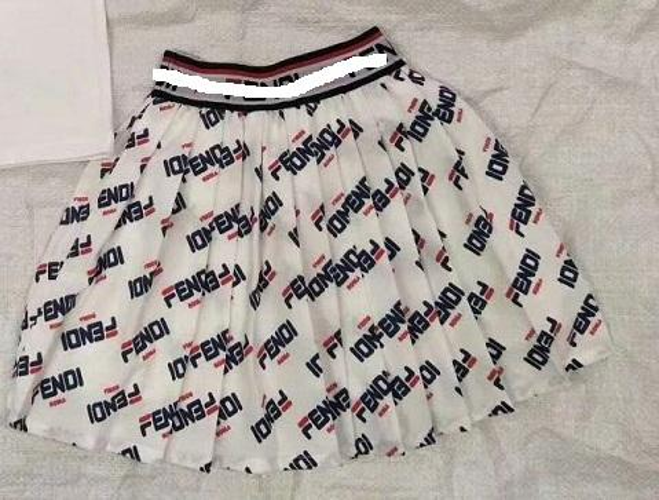Faldas para niñas Letra completa letra de fondo blanco faldas cortas estampadas
