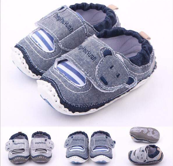 Small Bear Head Magic Stick Rubber Bottom Baby Outdoor Baby Shoes Walking Shoes WL615
