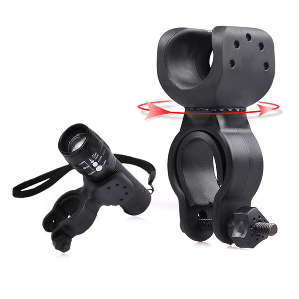 Torch Clip Mount Bicycle Front Light Bracket Flashlight Holder 360 Rotation Bike Light Bike Accessories Bike LED Flashlight 2