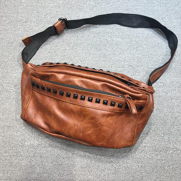 Cinghia di vita di cuoio degli uomini Donne vita della Fanny Shopping pacchetto del sacchetto di viaggio Hip borsa unisex nuovo modo morbide Borse Fanny Borse