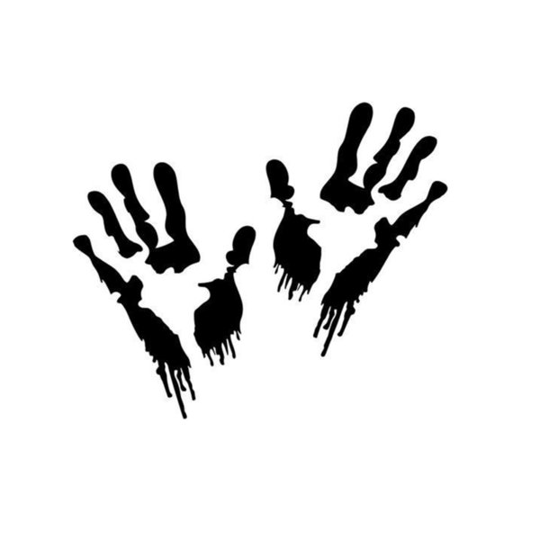 Bloody Zombie Hand Prints Home Decor Car Truck Window Decal Sticker Handsome And Cool Stickers