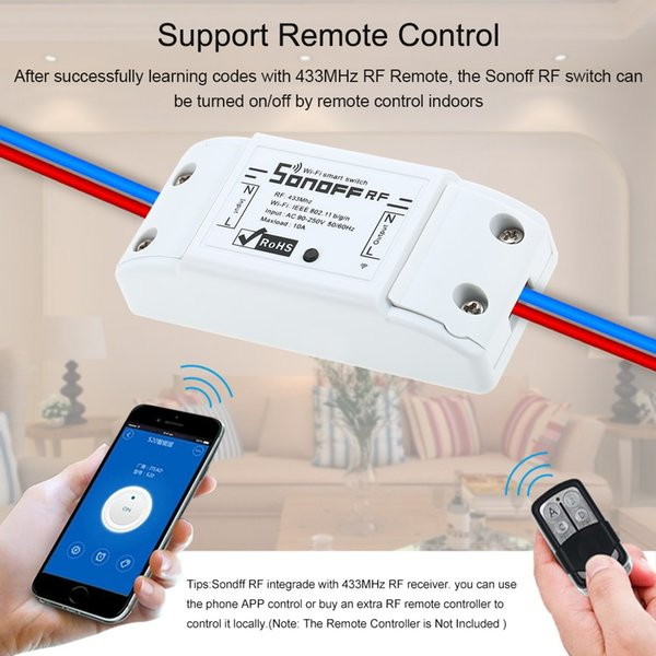 Sonoff RF Smart Wifi Switch Wireless Remote Control Light Switch Home Controller Work with Alexa and Google Android iOS 433MHz