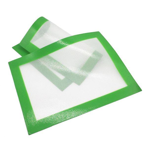 12 Pcs/lot Silicone Macaron Baking Mat Green Fiberglass Hybrid Construction Non Stick Silicon Mat 8.5 X 11.5