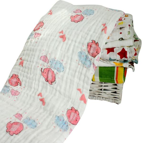 Fashion 120x120cm Winter Muslin Baby Cartoon Swaddling Blanketborn Infant Cotton Autumn Warm Swaddle Towel
