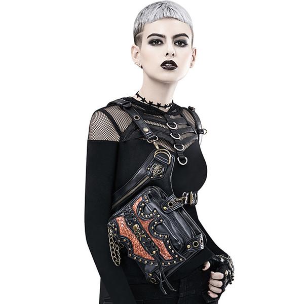 top popular Trend waist bags handbag high quality Cross Body bags shoulder bag Harley locomotive bag outdoor bag free shipping 2019
