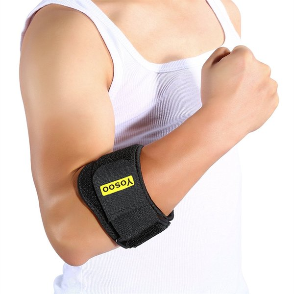 Yosoo Braccio Regolabile Brace Supporto Gomito Fascia Wrap Bandage Strap Joint Dolore Gomito Protector Avambraccio Guard per Tennis Golf # 18315